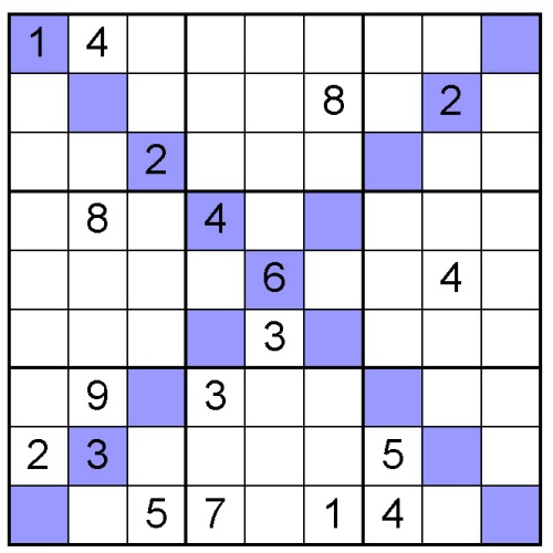 sudoku X puzzle 11