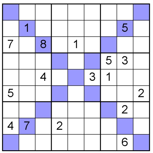 picture relating to Hard Sudoku Puzzles Printable named Absolutely free Sudoku X Puzzle