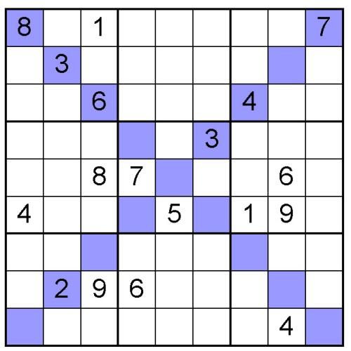 diagonal sudoku online